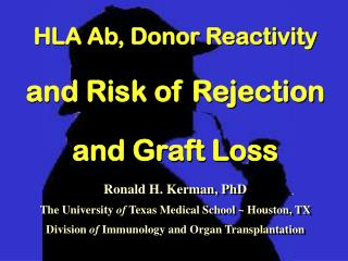 HLA Ab, Donor Reactivity  and Risk of Rejection  and Graft Loss