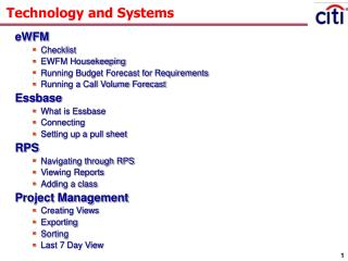 Technology and Systems