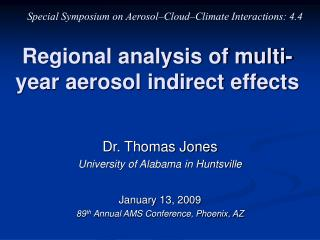 Regional analysis of multi-year aerosol indirect effects