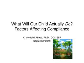 What Will Our Child Actually  Do ? Factors Affecting Compliance