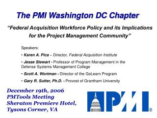 The PMI Washington DC Chapter