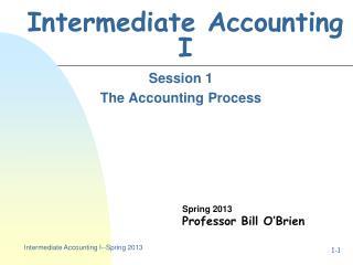 Intermediate Accounting I