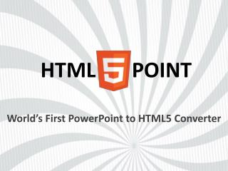 HTML5Point - PPT to HTML5 Converter