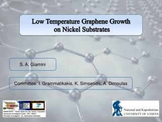 Low Temperature Graphene Growth  on Nickel Substrates