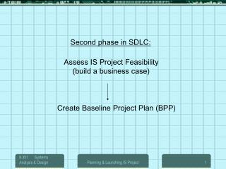 Assess IS Project Feasibility (build a business case)