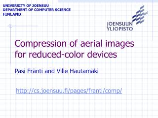 Compression of aerial images for reduced-color devices