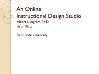 An Online  Instructional Design Studio