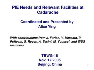 PIE Needs and Relevant Facilities at Cadarache