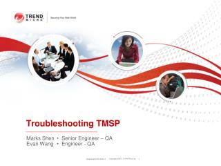 Troubleshooting TMSP