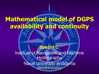 Mathematical model of DGPS availability and continuity