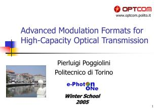 Advanced Modulation Formats for  High-Capacity Optical Transmission