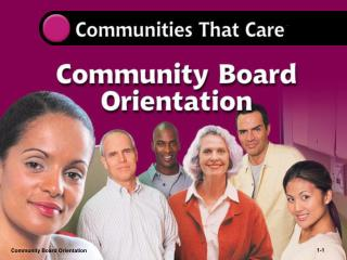 Community Board Orientation