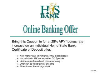 Online Banking Offer