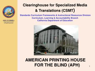 AMERICAN PRINTING HOUSE FOR THE BLIND (APH)