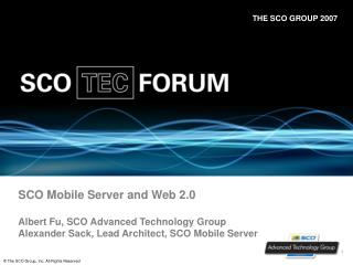 SCO Mobile Server and Web 2.0