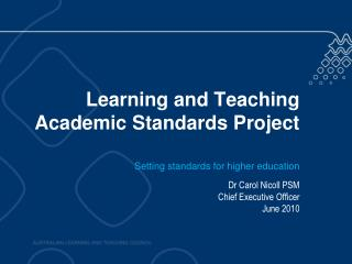 Learning and Teaching Academic Standards Project