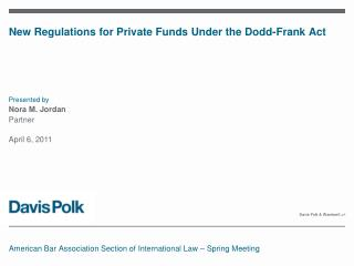 New Regulations for Private Funds Under the Dodd-Frank Act