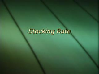 Stocking Rate