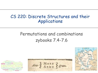 CS 220: Discrete Structures and their Applications