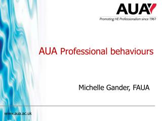 AUA  Professional behaviours