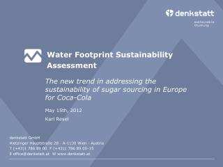 Water Footprint Sustainability Assessment