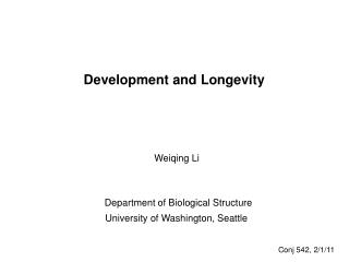 Development and Longevity