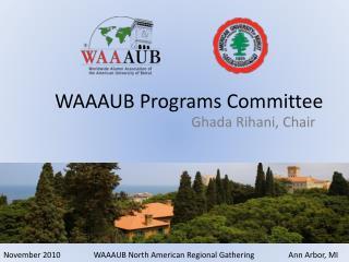 WAAAUB Programs Committee