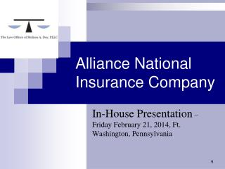 Alliance National Insurance Company