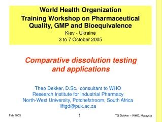 Comparative dissolution testing and applications