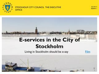 E-services in the City of Stockholm