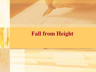 Fall from Height