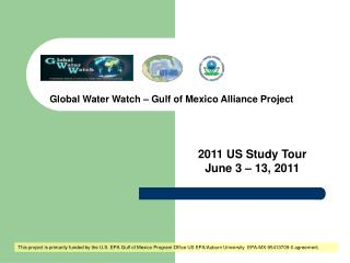 Global Water Watch – Gulf of Mexico Alliance Project