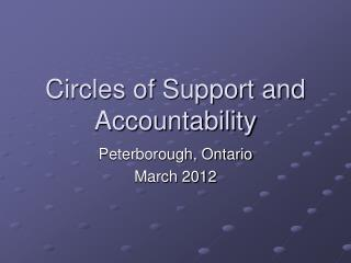 Circles of Support and Accountability
