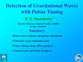 Detection of Gravitational Waves with Pulsar Timing