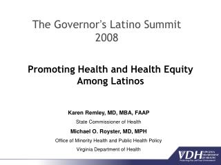 Promoting Health and Health Equity Among Latinos