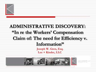 ADMINISTRATIVE DISCOVERY: