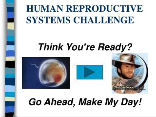 HUMAN REPRODUCTIVE SYSTEMS CHALLENGE