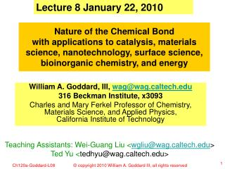 Lecture 8 January 22, 2010
