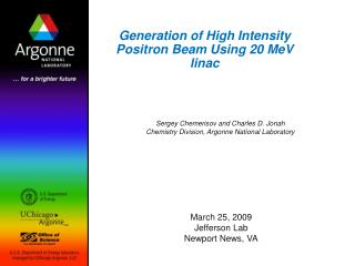 Generation of High Intensity Positron Beam Using 20 MeV linac