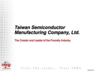 Taiwan Semiconductor Manufacturing Company, Ltd.