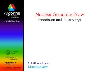 Nuclear Structure Now (precision and discovery)