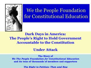 We the People Foundation for Constitutional Education