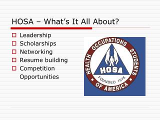 HOSA – What's It All About?