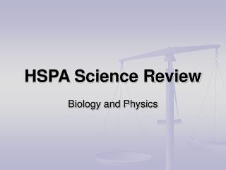 HSPA Science Review