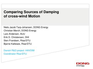Comparing Sources of Damping of cross-wind Motion