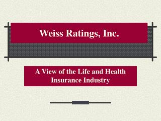 Weiss Ratings, Inc.
