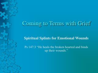Coming to Terms with Grief