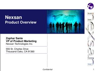 Nexsan Product Overview