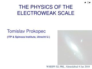 THE PHYSICS OF THE ELECTROWEAK SCALE