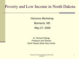 Poverty and Low Income in North Dakota